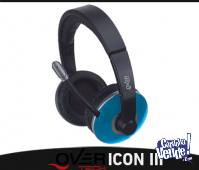 Auricular Stereo Multimedia Overtech Icon Iv Blue Super Bass