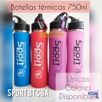 Botella Termo Deportivo 750ml Sport Rolan+kit De Limpieza