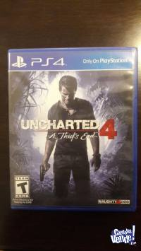 Uncharted 4: A Thief's End -f�sico PS4