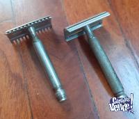 Afeitadora Antigua Gillette Bronce + otra de yapa