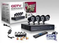 CAMARAS DE SEGURIDAD EXTERIOR X4+disco 1TB+DVR+nuevas c/gtia