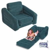 SILLON INFLABLE INTEX SOFA, CAMA PARA INTERIOR O CAMPING