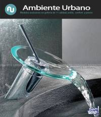 Griferia De Vidrio Cascada Para Baño Diseño Y Elegancia.