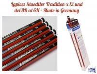 Lapices STAEDTLER dibujo HB B 2B 3B 4B 5B x12