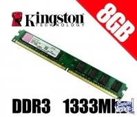 MEMORIA PC DDR3 8G KINGSTON 1333MHZ CL9