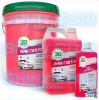 PINK CAR SOAP 3D (Shampoo PH Neutro)