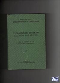 REGLAMENTO DE FERROCARRILES y otros 2 libros afines $ 2600