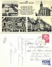 Tarjetas postales esbastica zeppelin