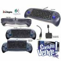 TECLADO LOGITECH PARA PC Y PLAYSTATION 2 CON JOYSTICKS UNICO