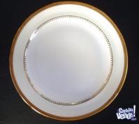 vajilla de porcelana y oro 24 quilates